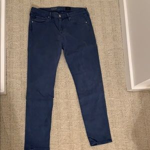 Blue stretch jeans